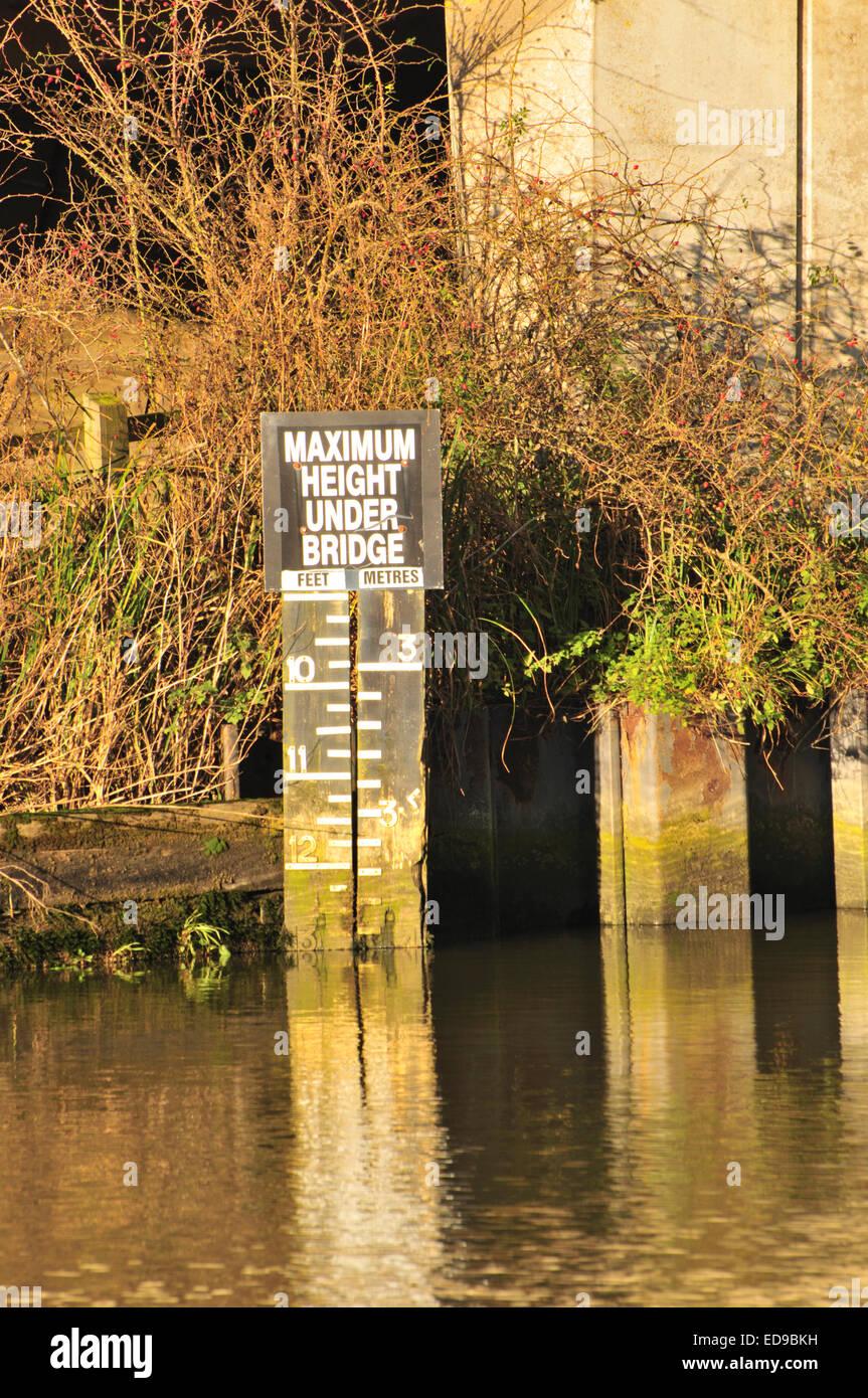 Hauteur maximale signe à Beccles Quay Photo Stock