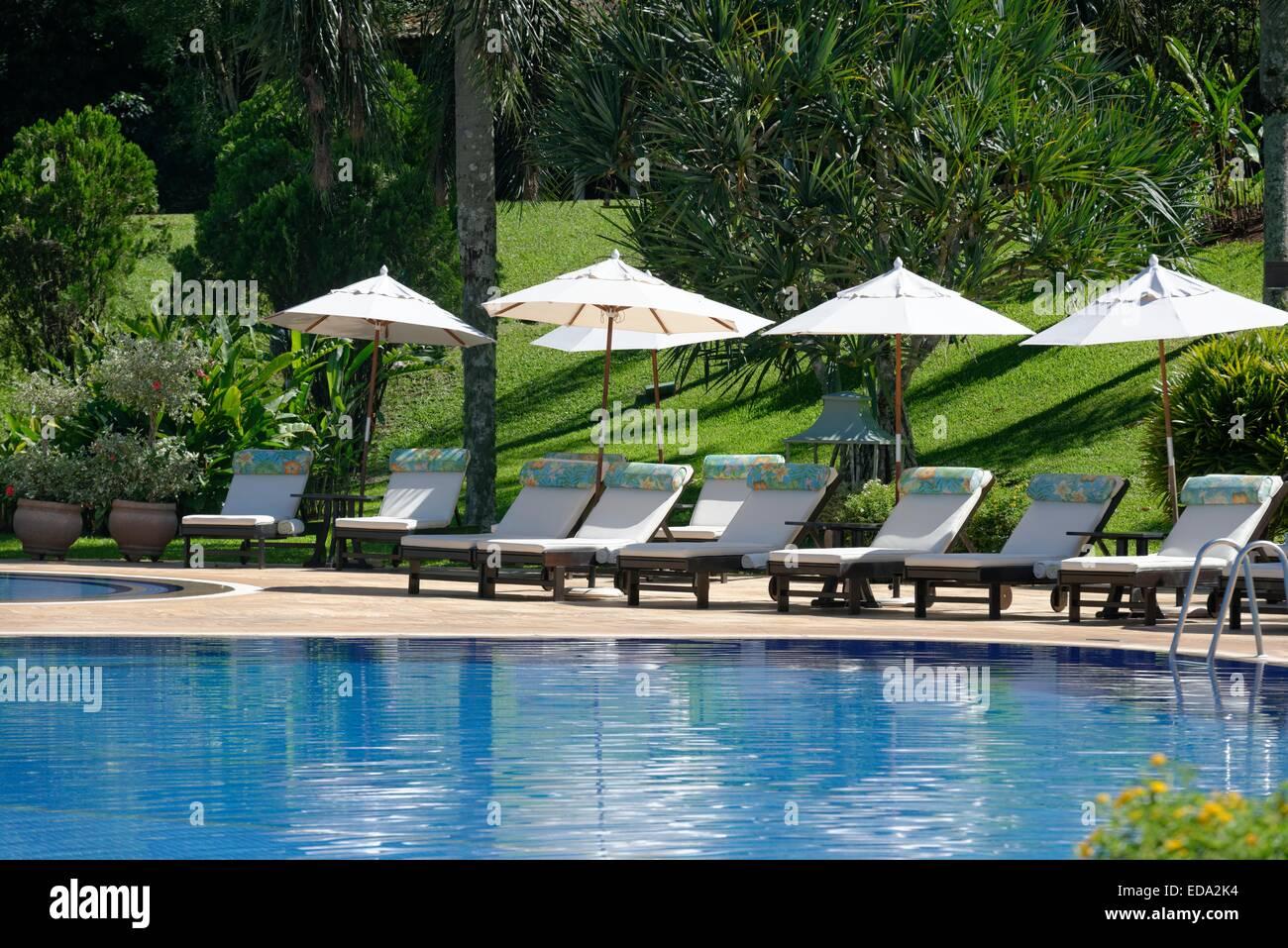 Belmond Hotel Das Cataratas, Iguacu Falls, Foz de Iguacu, Brésil, Amérique du Sud, piscine Banque D'Images