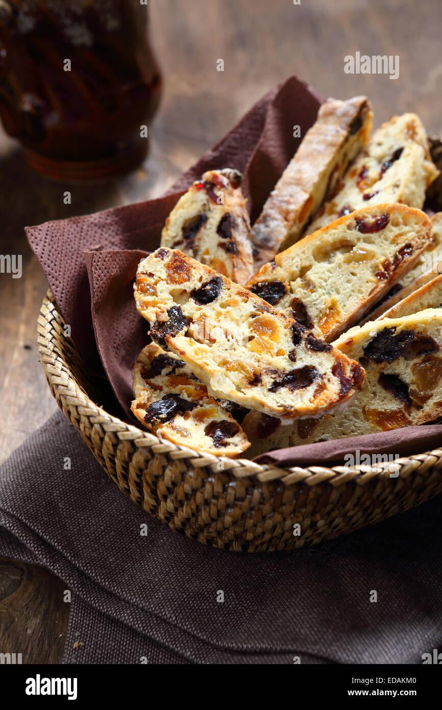 Les cookies traditionnels italiens, un aliment sucré Photo Stock