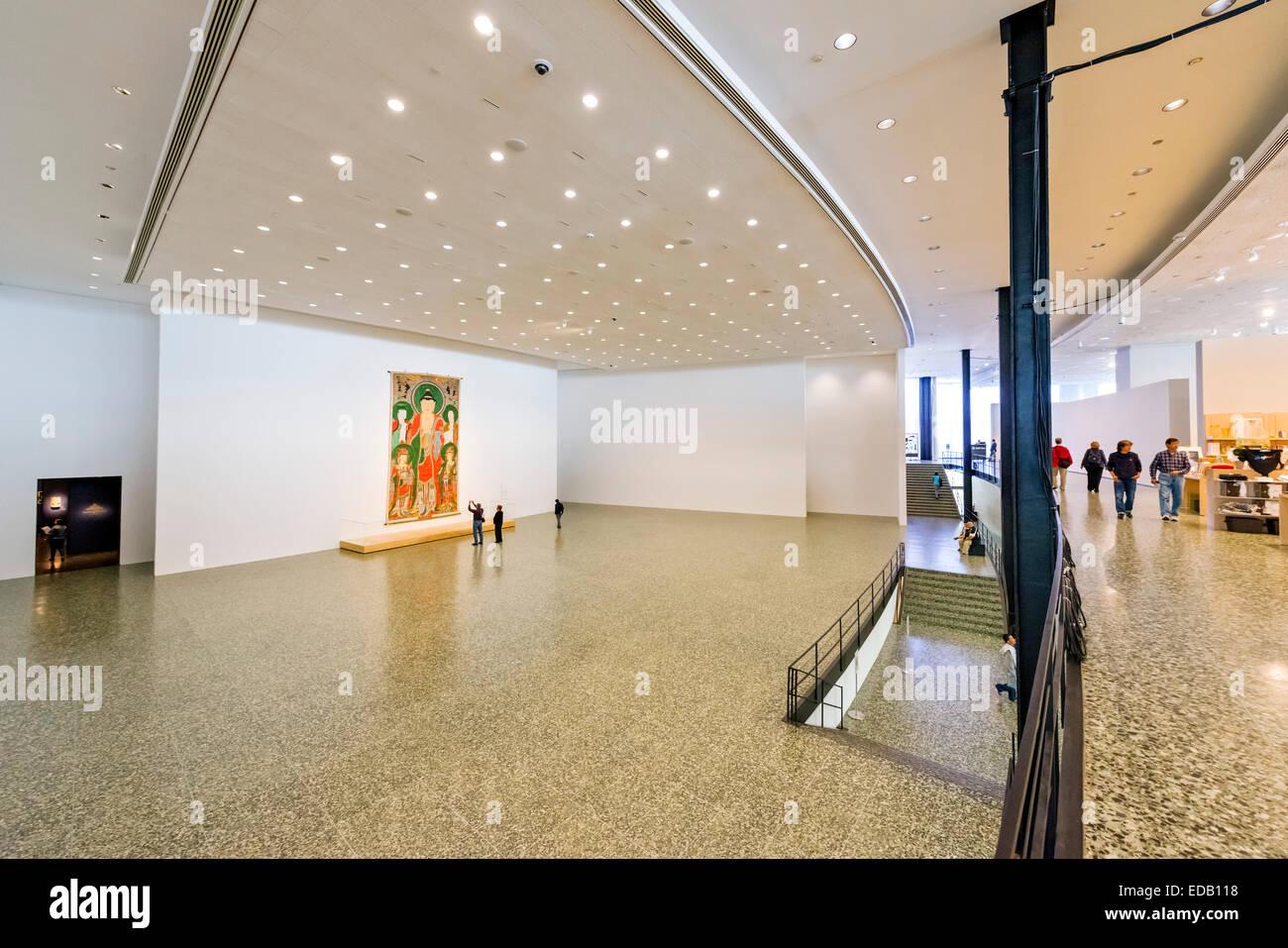 Intérieur de la Caroline Wiess Law, au Musée des beaux-Arts, Houston, Texas, USA Photo Stock