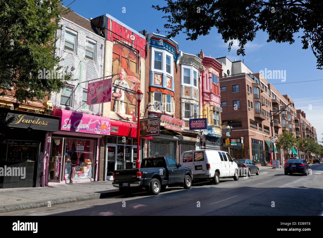 South Street, Philadelphie, Pennsylvanie Photo Stock