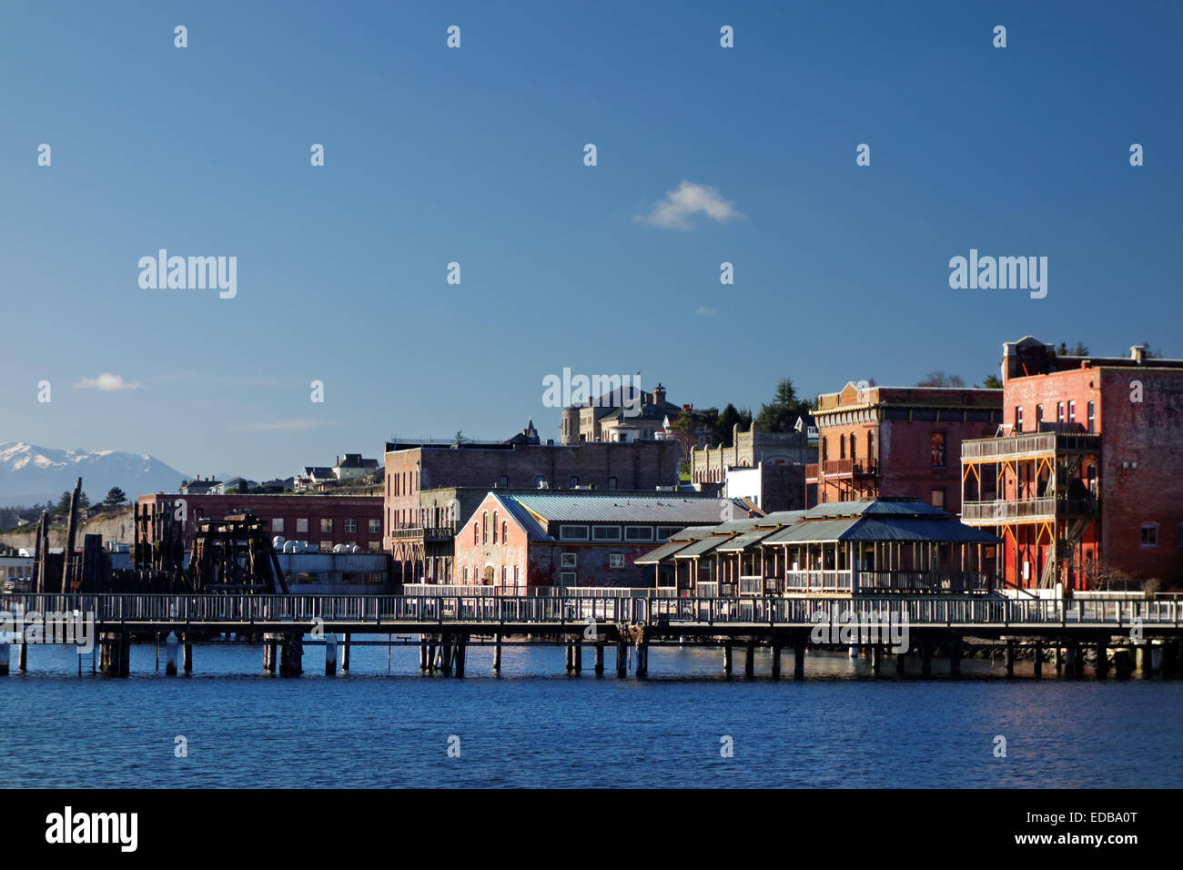 Front de mer de port townsend jefferson county washington usa photo stock