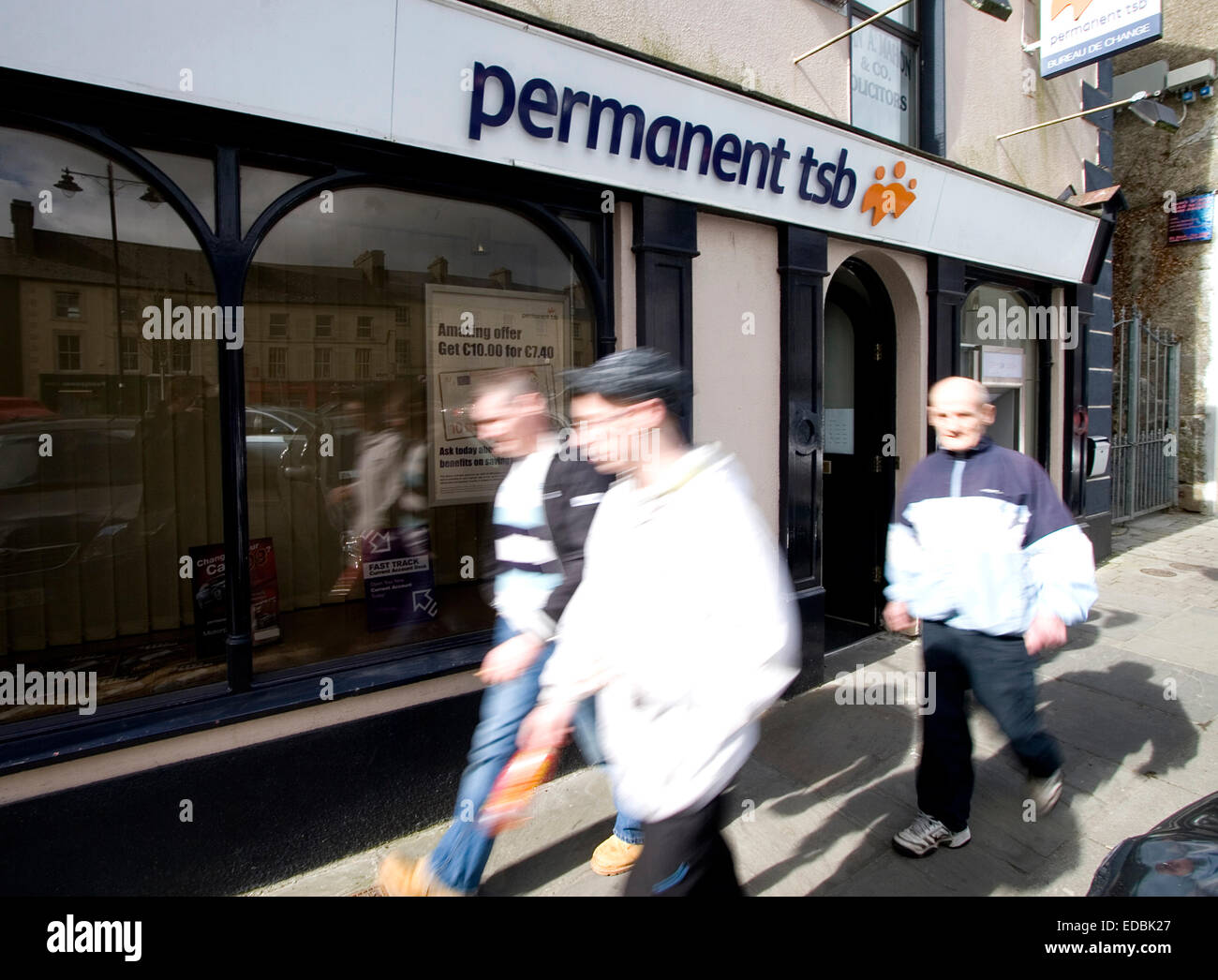 Une succursale de permanent tsb Bank, Roscommon, ouest de l'Irlande. Photo Stock
