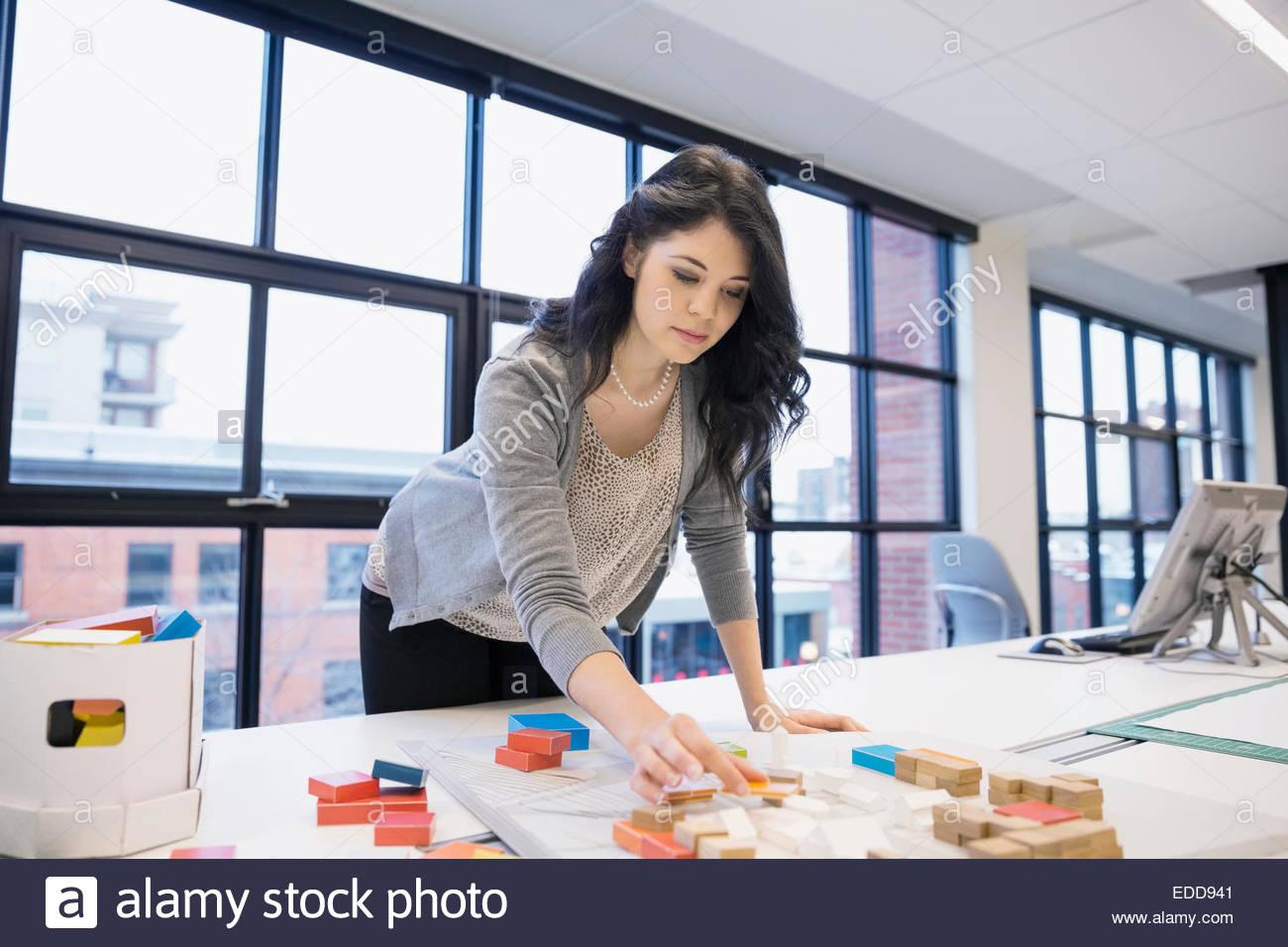 L'organisation en fonction du modèle de l'architecte Photo Stock