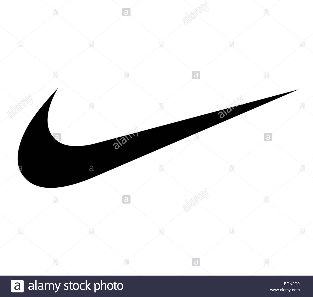 Logo Nike signe icône Photo Stock