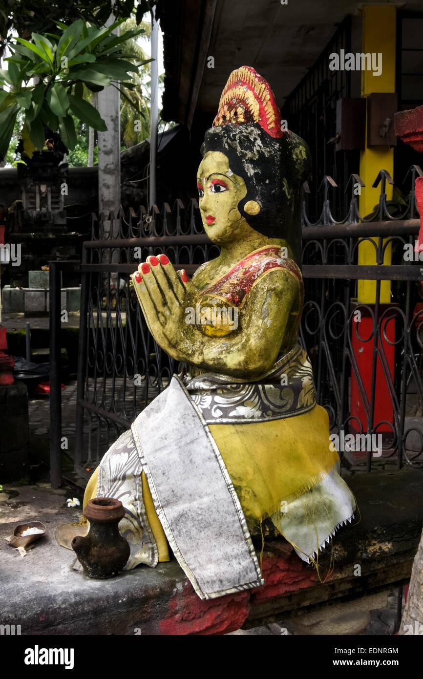 Statue balinaise. Sanur, Bali, Indonésie Banque D'Images