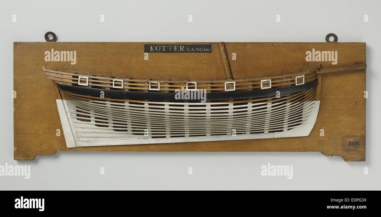 La moitié d'un modèle cutter de 14 pièces, anonyme, c. 1780 - c. 1820 Photo Stock