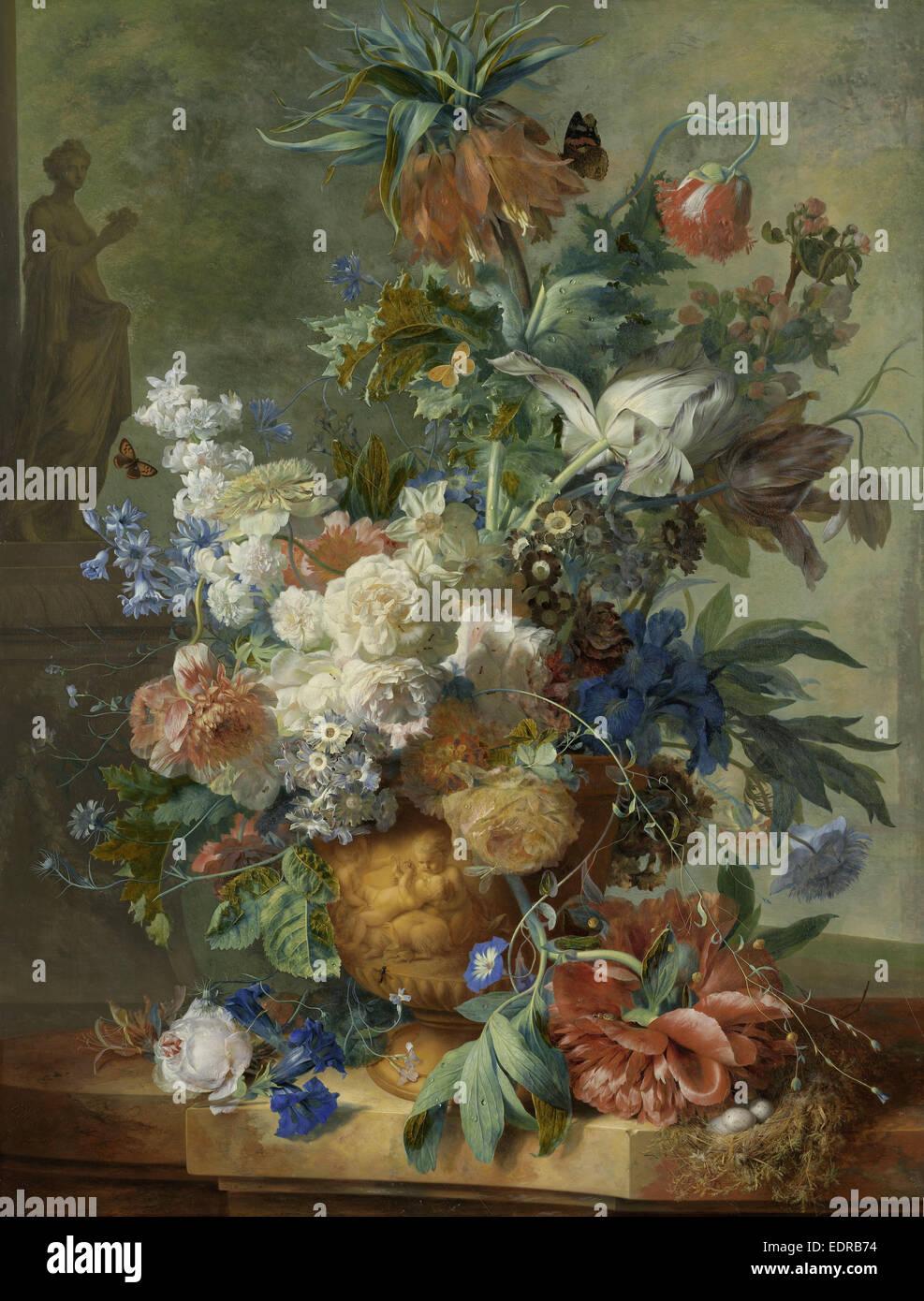 Nature morte avec fleurs, Jan van Huysum, 1723 Photo Stock