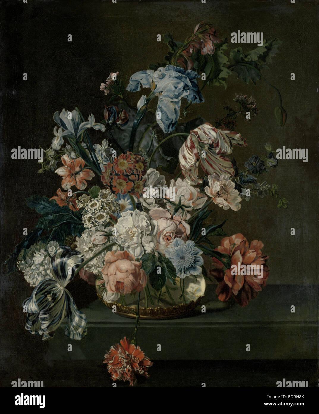 Nature morte avec fleurs, Cornelia van der Mijn, 1762 Photo Stock