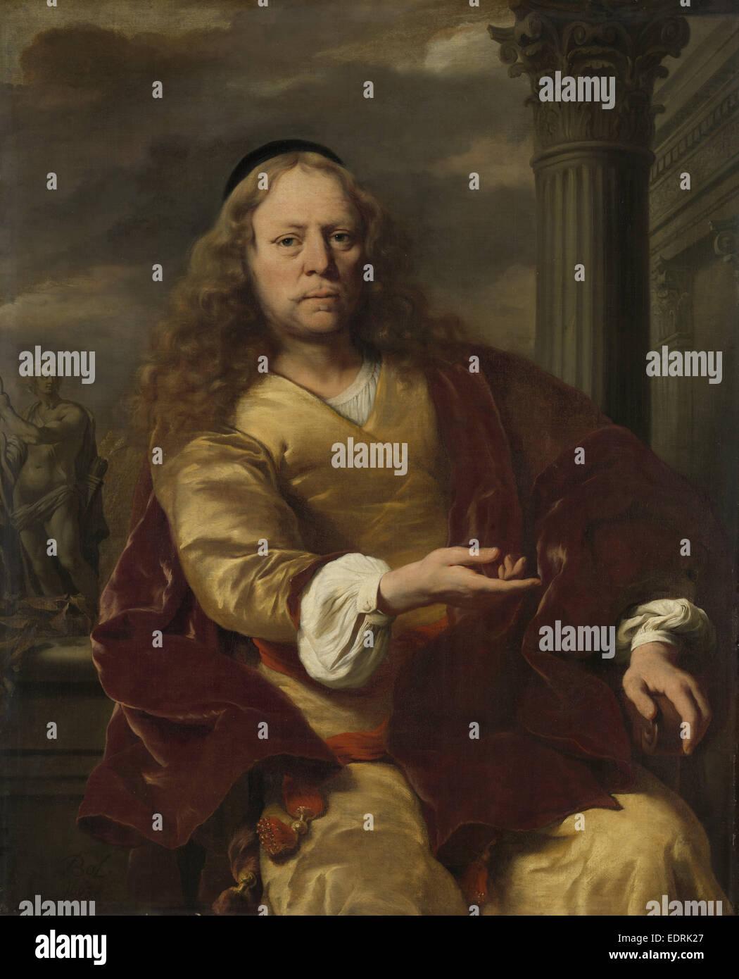 Portrait d'un homme, Ferdinand Bol, 1663 Photo Stock
