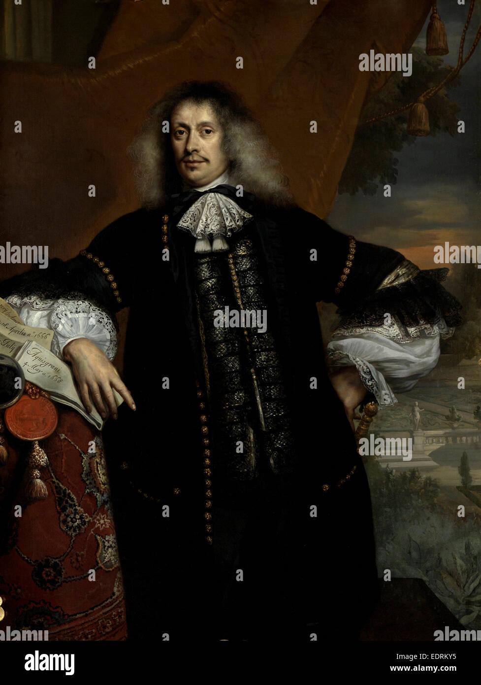 Hieronymus Van Beverningk, Jan de Baen, 1670 Photo Stock