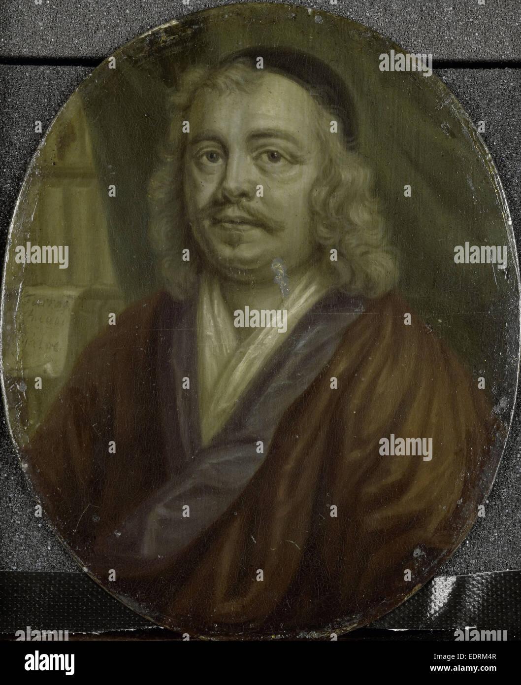 Portrait de Jacob Heiblocq, Recteur de l'École Latine à Amsterdam aux Pays-Bas, Arnoud van Halen, Photo Stock