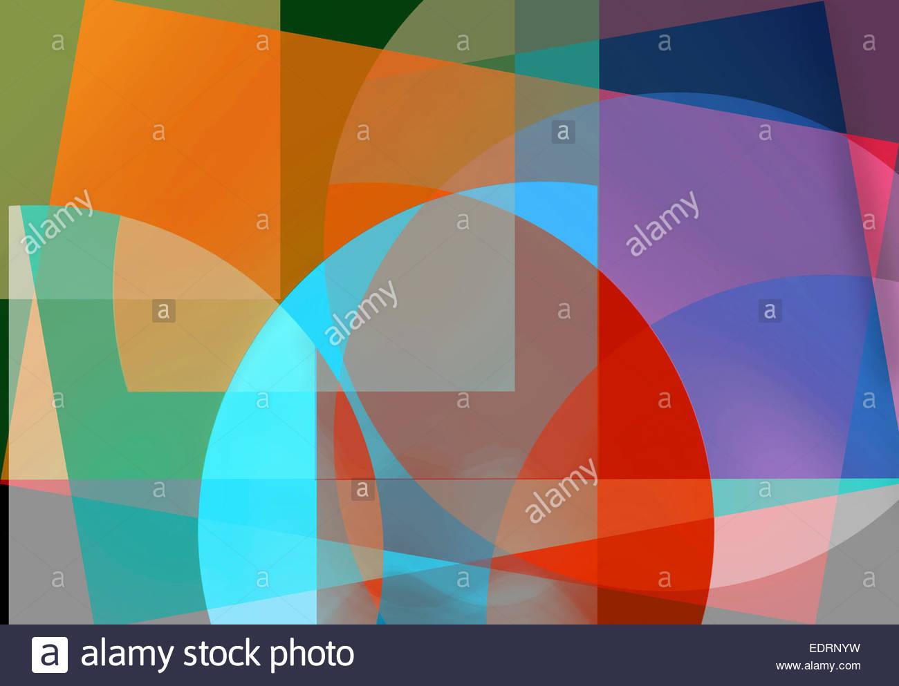 Motif de fond abstrait des formes géométriques multicolores Photo Stock