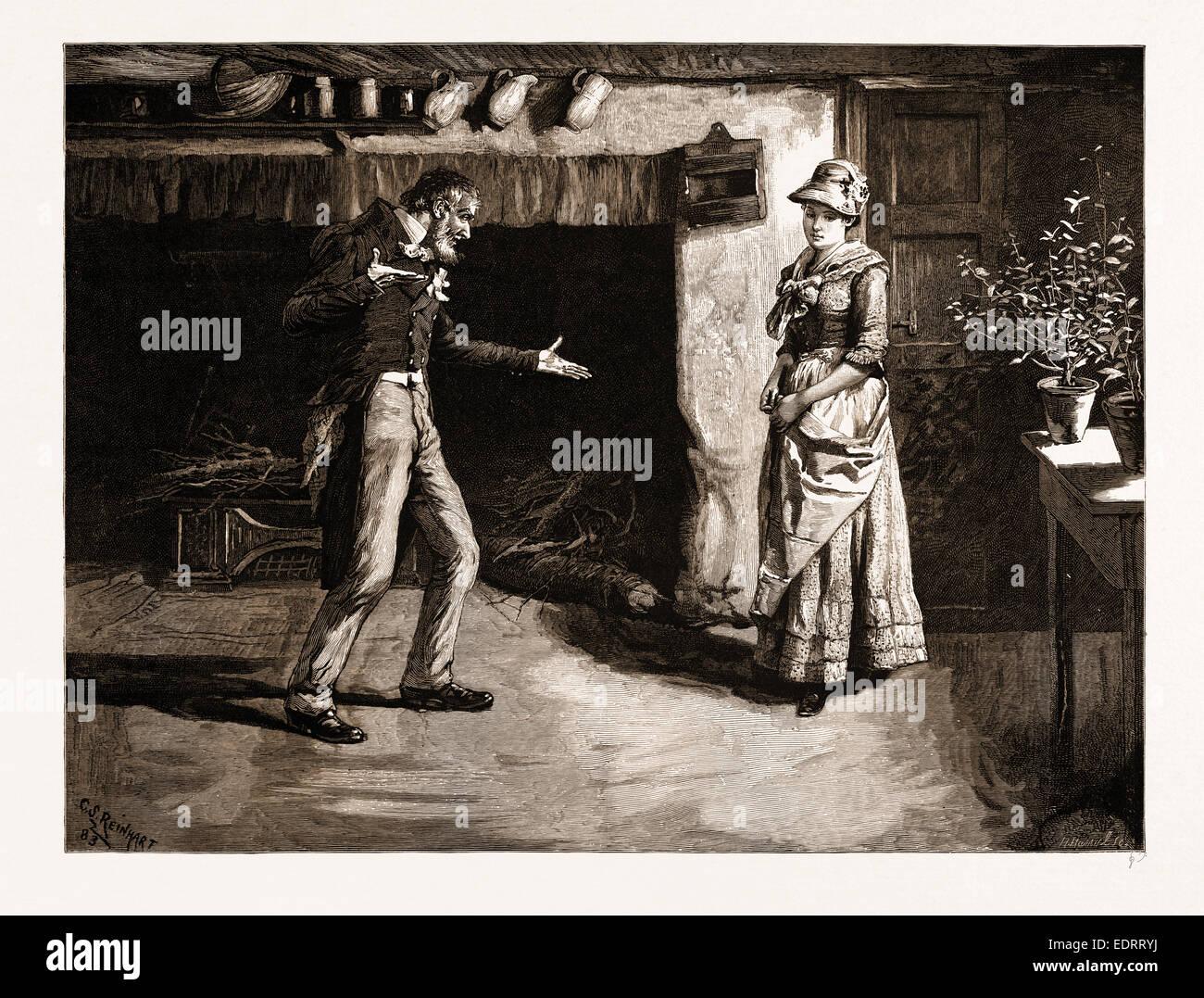 Les aventures romantiques d'une laitière: 'QU'ÊTRE ICI POUR VOUS?', 1883 Photo Stock