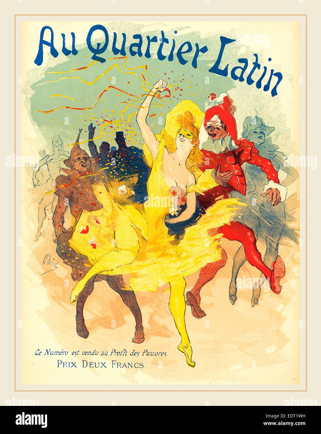 Jules Chéret (Français, 1836-1932), au Quartier Latin, 1894, lithographie couleur Photo Stock