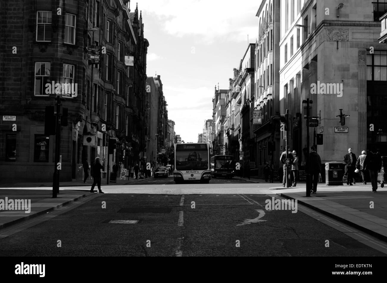 West George Street à West Nile Street à Glasgow, Ecosse Banque D'Images