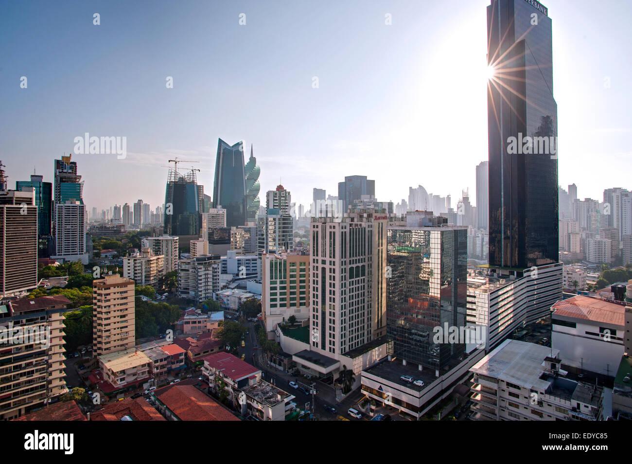 Des toits de la ville de Panama, Panama Photo Stock