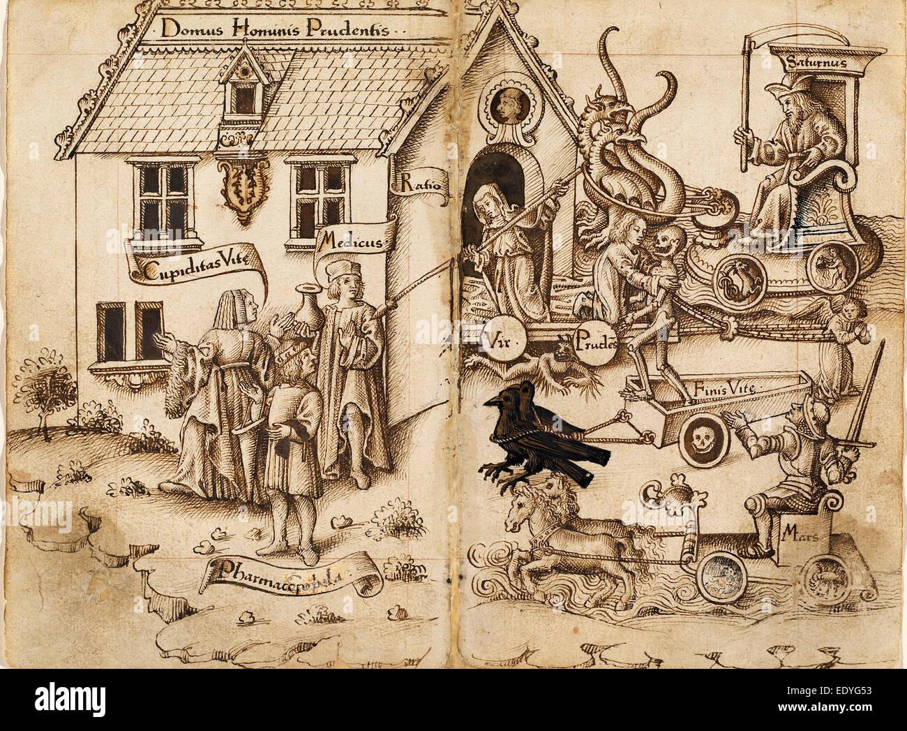 Au début du 16e siècle français, 'ne pas revenir en arrière quand vous arrivez à la Photo Stock