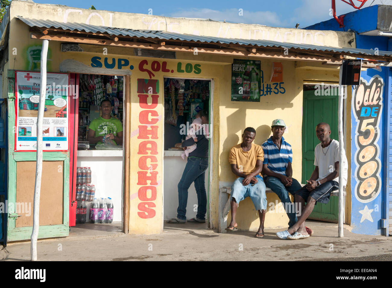 Dominikanische Republik, Südwesten, Rancho Arriba östlich von San Jose de Ocoa an der Strasse zur Autopista Photo Stock