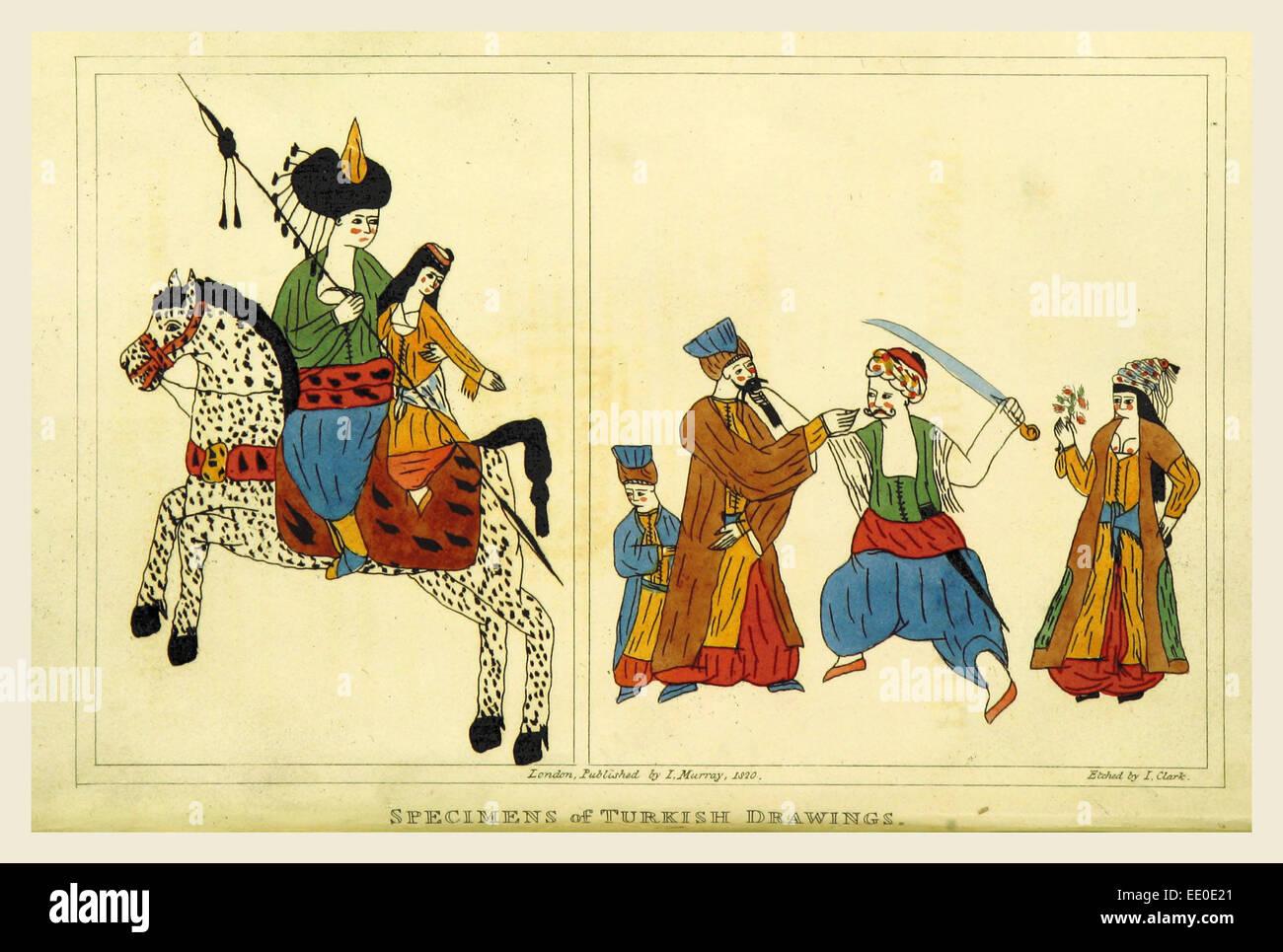 Un voyage dans le Levant, Bain Turc, 1820 dessins Photo Stock
