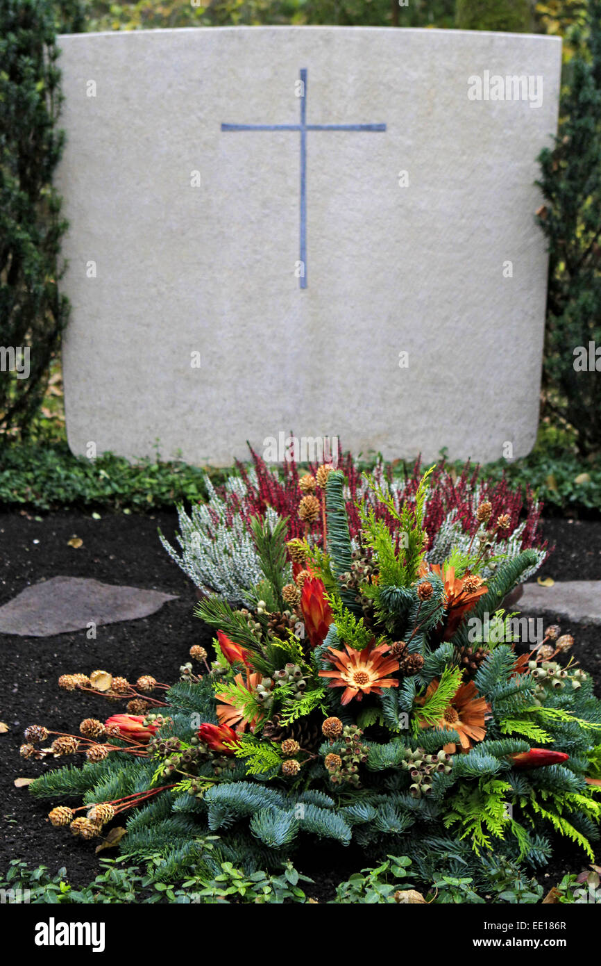 Geschmuecktes auf einem Grab Friedhof un Allerheiligen Banque D'Images