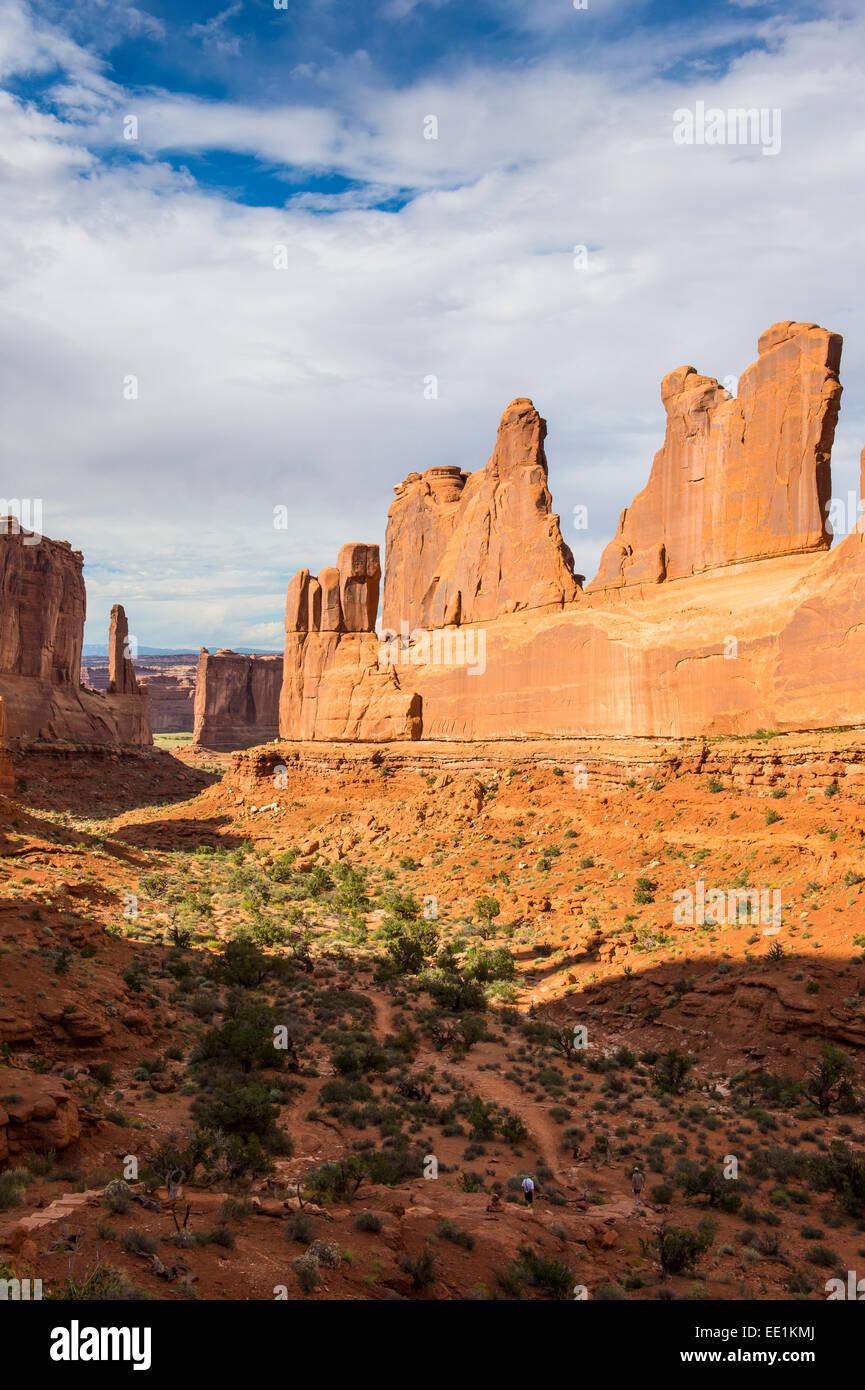 Mur en pierre de la fenêtre Article, Arches National Park, Utah, États-Unis d'Amérique, Amérique Photo Stock