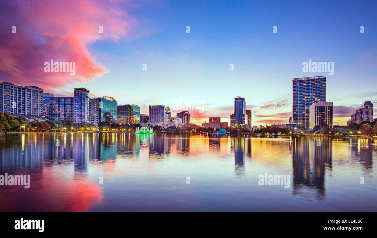 Orlando, Floride, États-Unis d'horizon de la ville. Banque D'Images