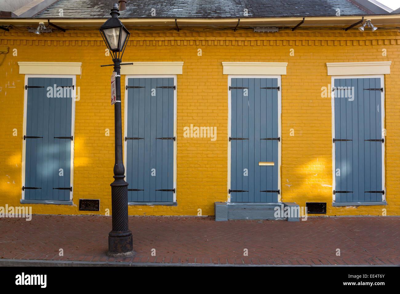 Quartier français, la Nouvelle Orléans, Louisiane. Maison de ...
