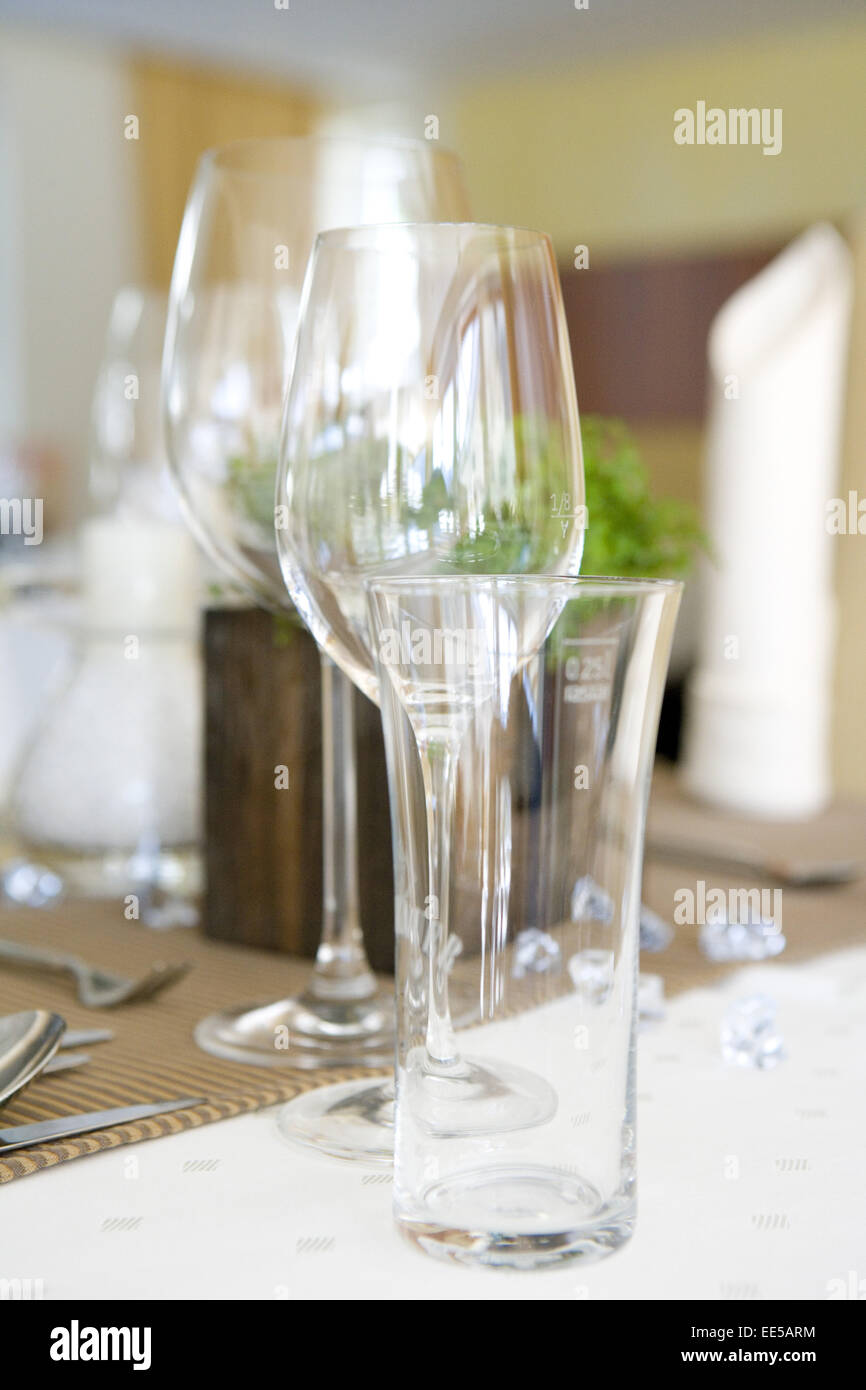 Tisch Gedeckt Festlich Detail Tischdeko Tischdekoration