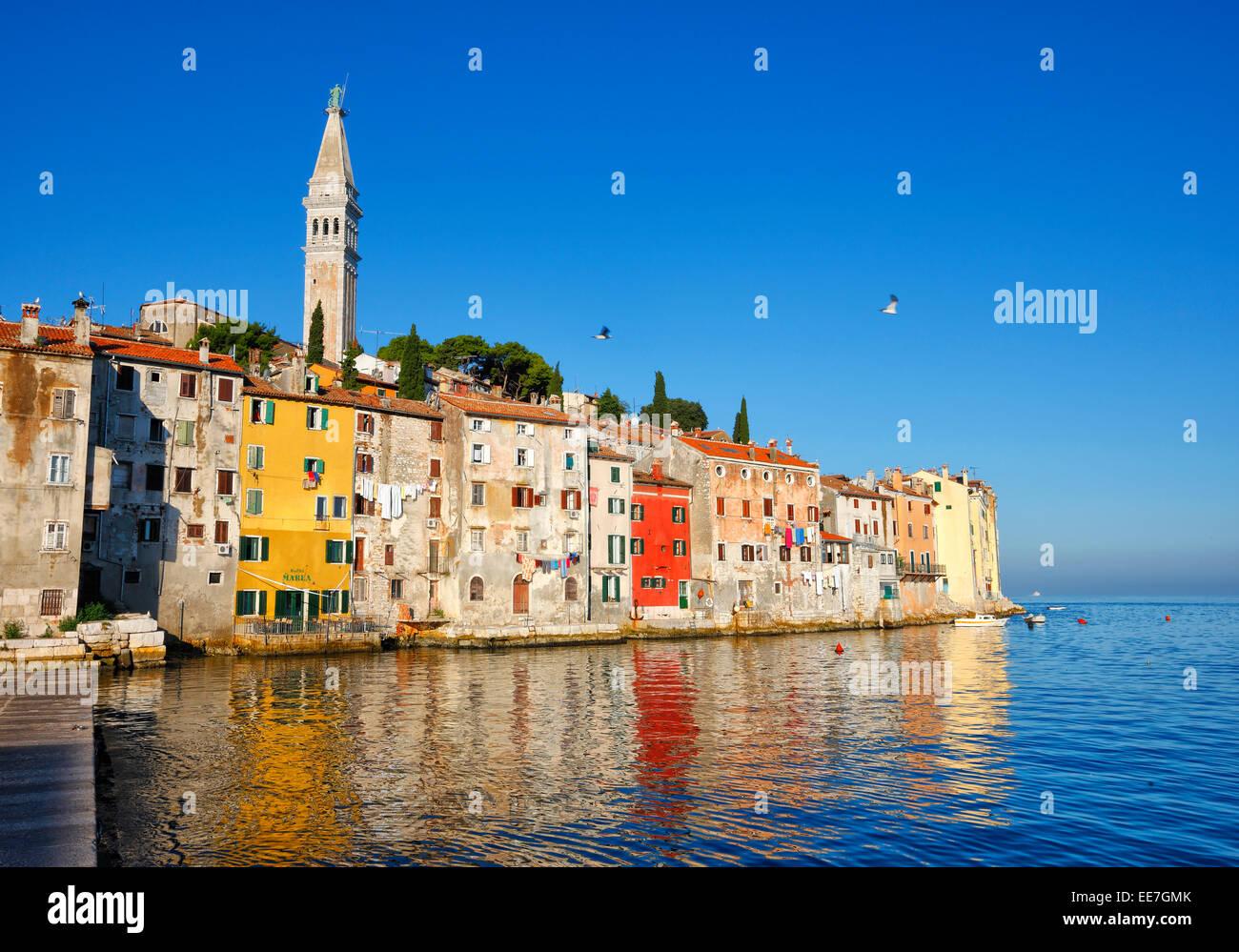La vieille ville de Rovinj en Istrie, Croatie. Photo Stock