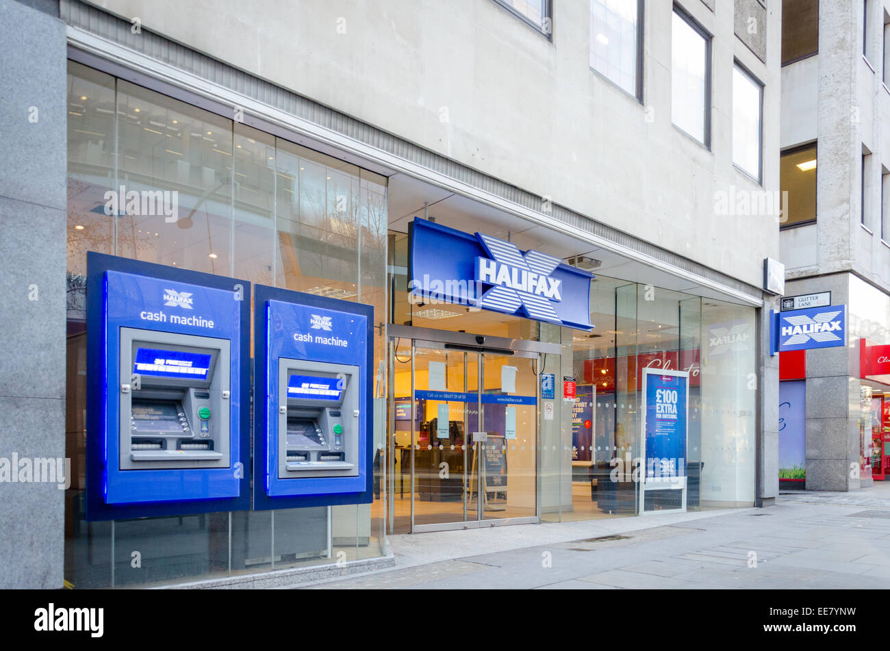 Succursale de Halifax Bank sur Cheapside, Londres, Royaume-Uni. Photo Stock