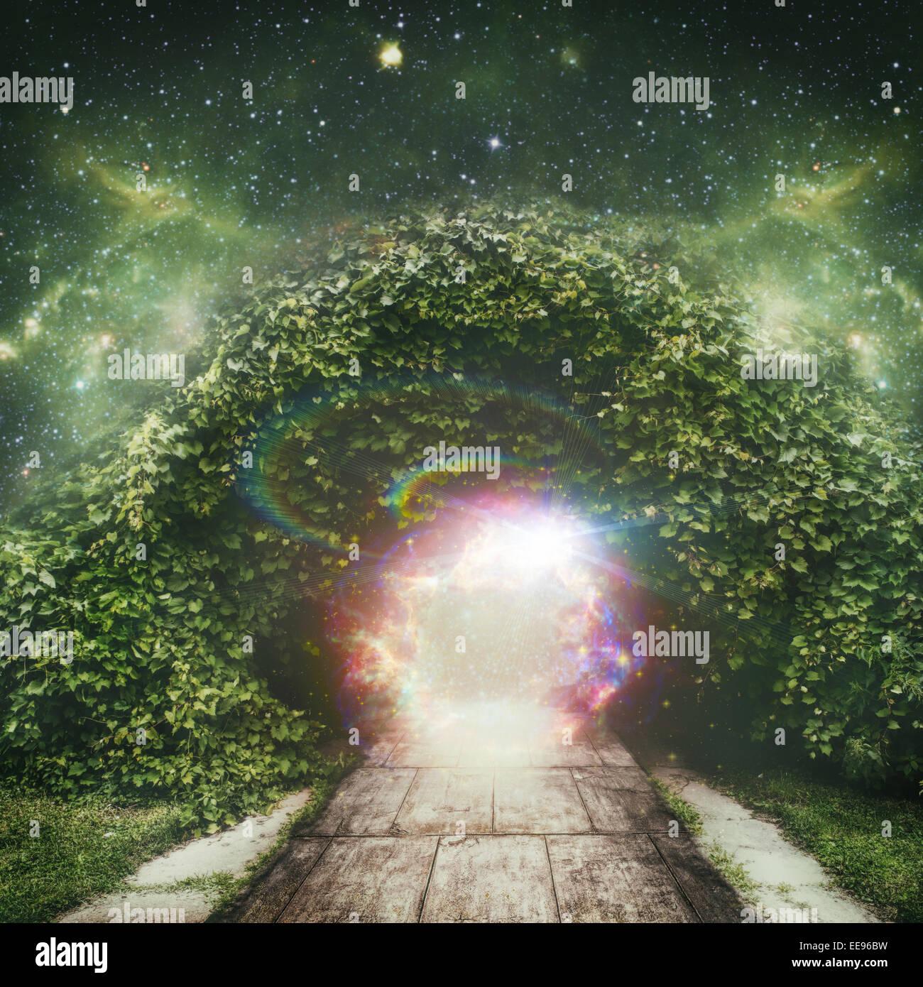 Portail à un autre univers, abstract backgrounds spirituelle Banque D'Images