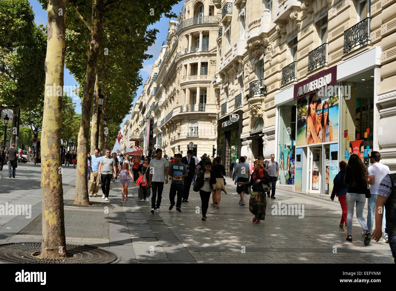 Paris, Avenue des Champs-Élysées Photo Stock