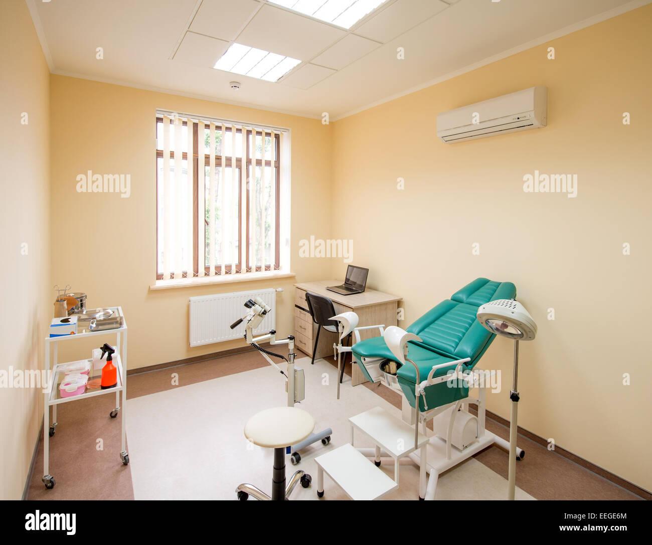 Cabinet Gyncologique Avec Chaise Et Lquipement Mdical Personne