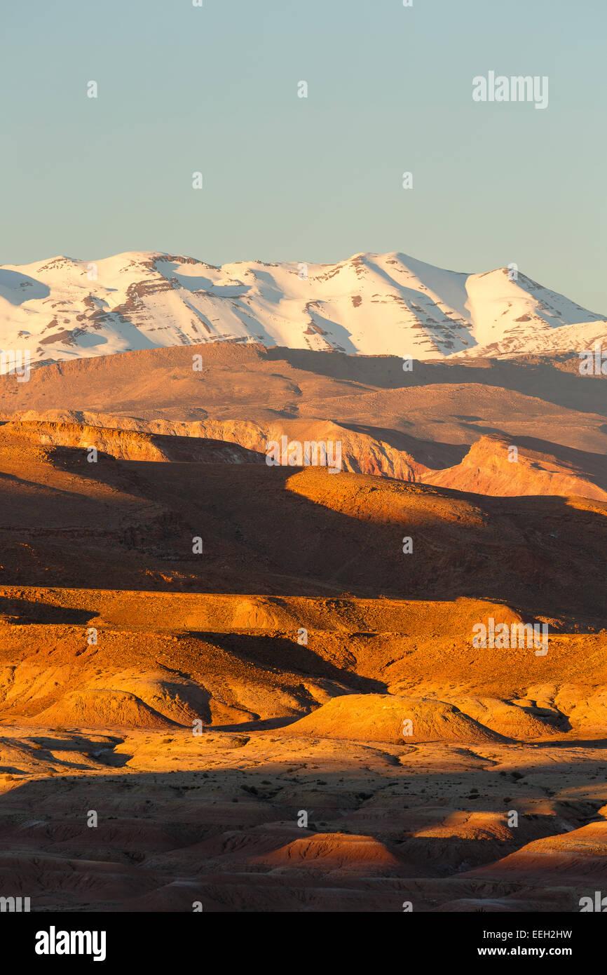 Les montagnes. Ait Ben Haddou. Le Maroc. L'Afrique du Nord. Afrique du Sud Photo Stock