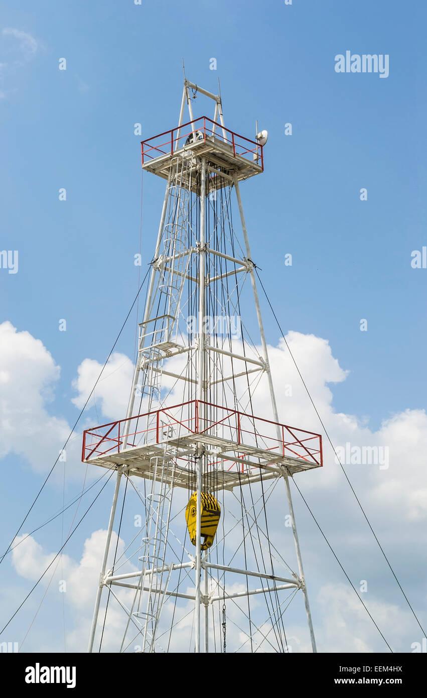 Échafaudage métallique pour le forage dans l'industrie de l'huile Photo Stock