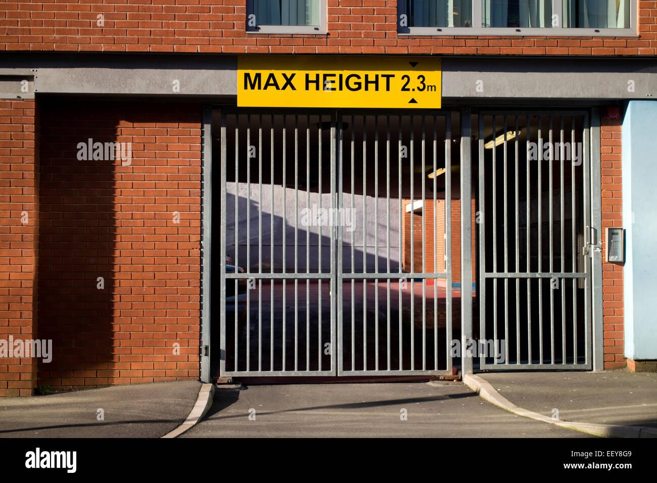 Hauteur Max signe, Birmingham, Royaume-Uni Photo Stock