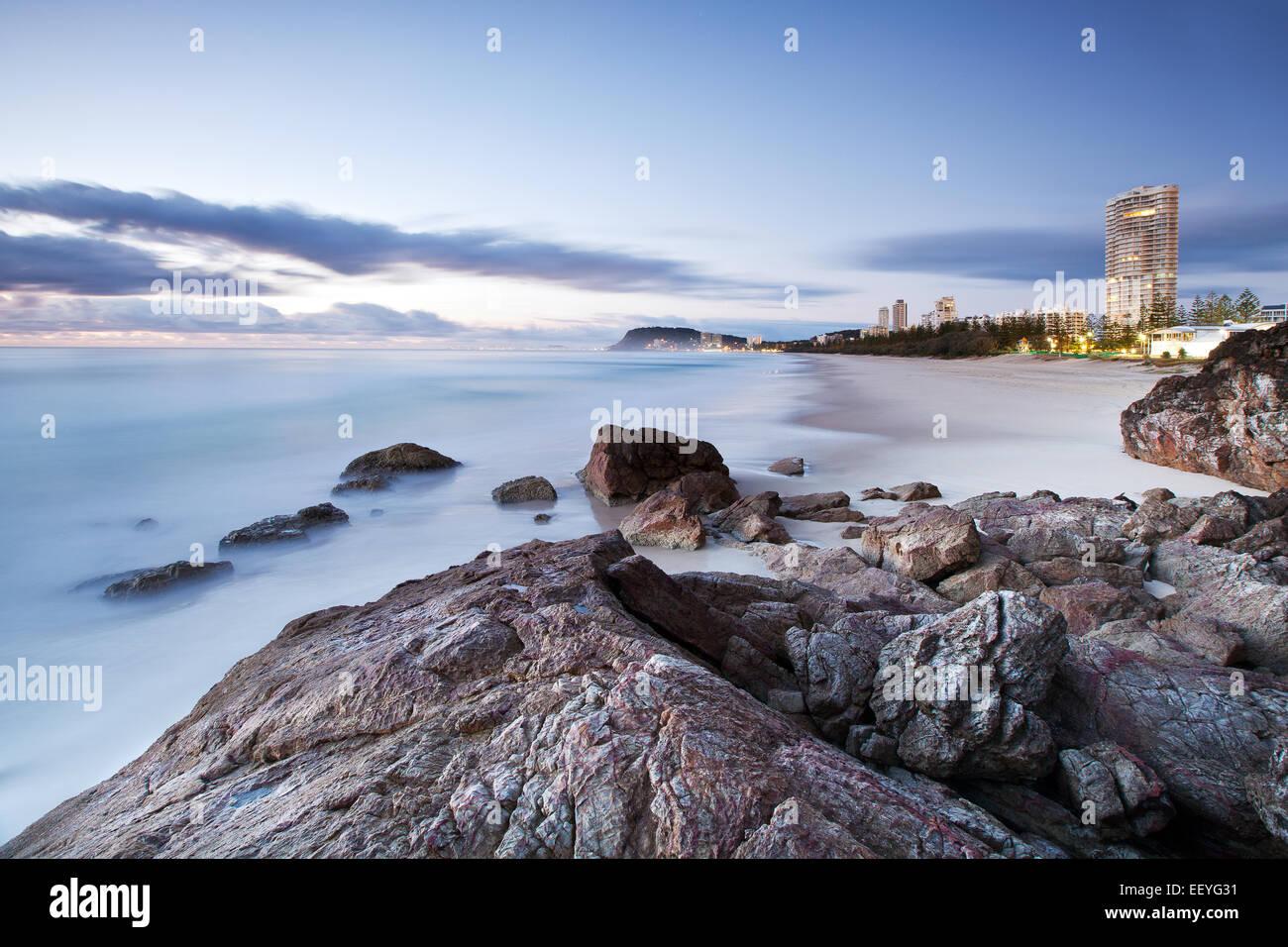 Scène côtière australienne Photo Stock