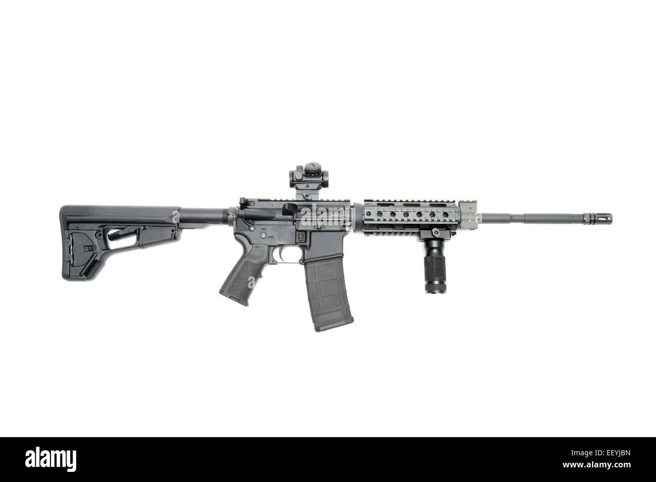 Carabine tactique AR15 Photo Stock