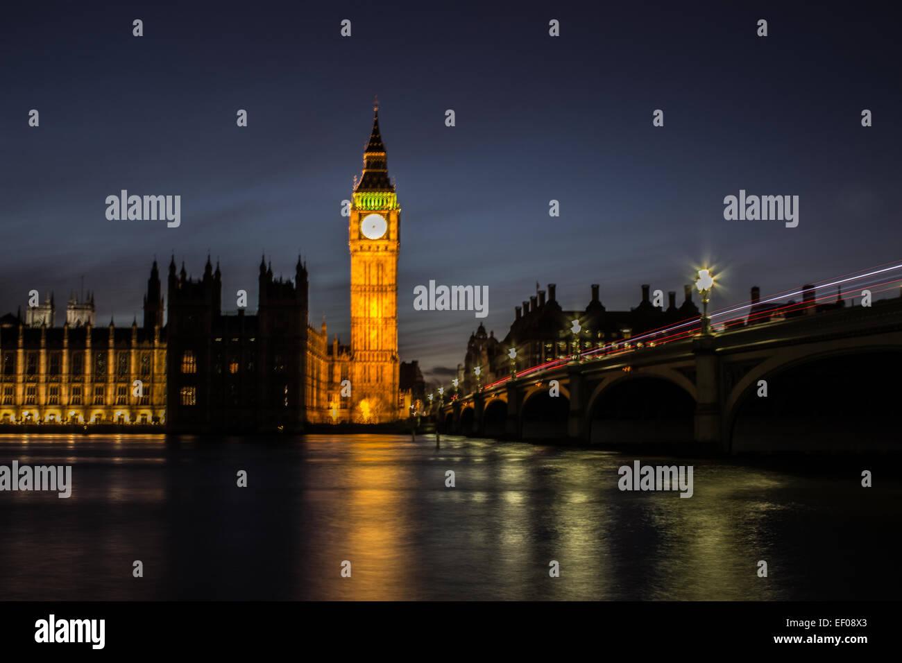 Le pont de Westminster Photo Stock
