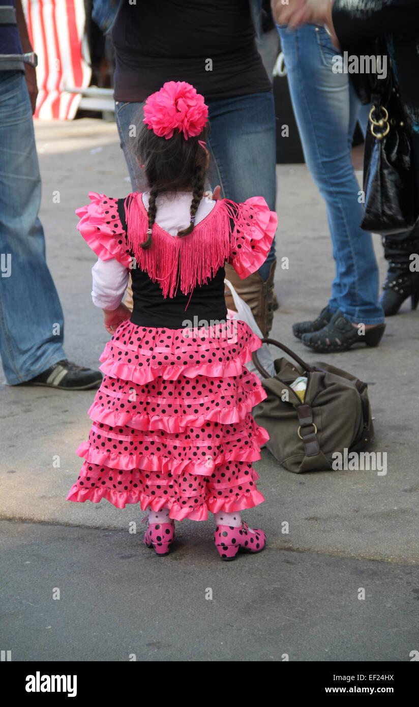 Dress Girl Dress Spanish Spain Traditional Costume Festival Fair