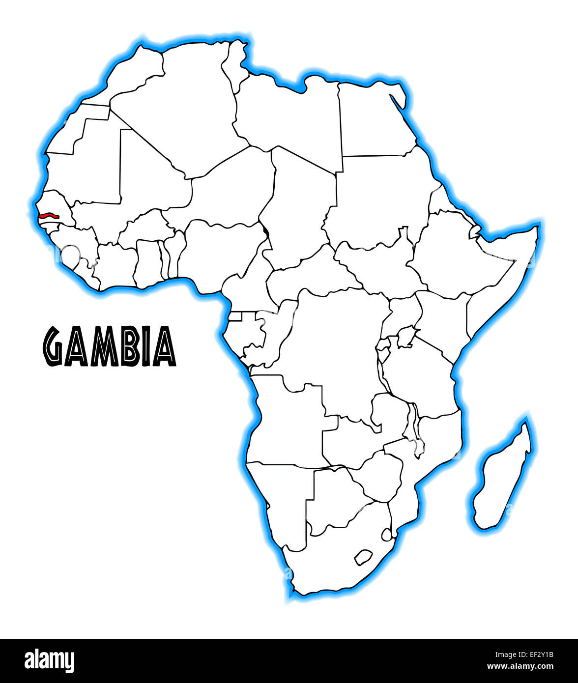 Carte De Lafrique Gambie.Map Of Gambia Photos Map Of Gambia Images Alamy