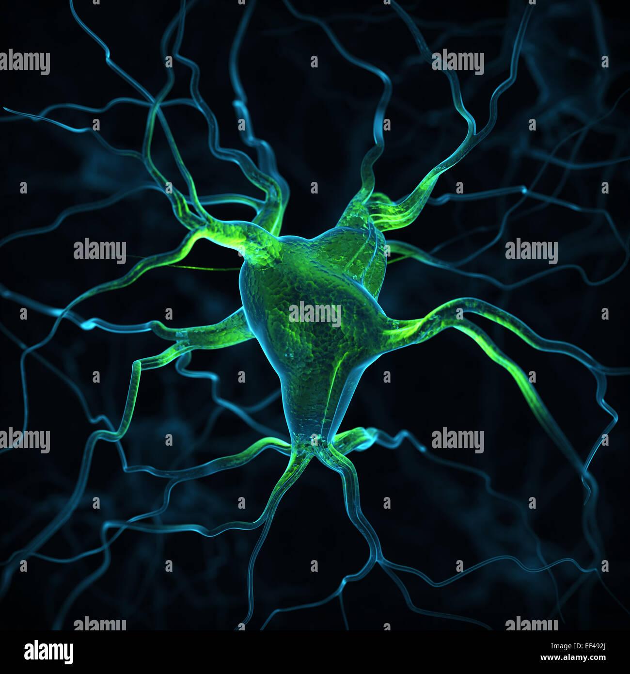 Résumé Contexte Les neurones Photo Stock