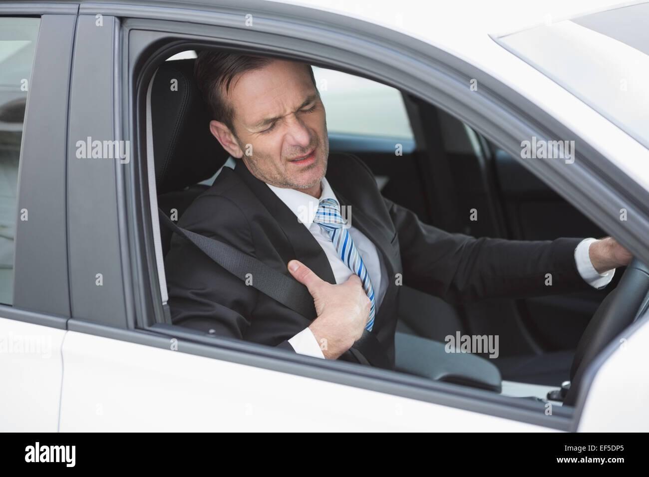 Businessman souffrant de chagrin Photo Stock
