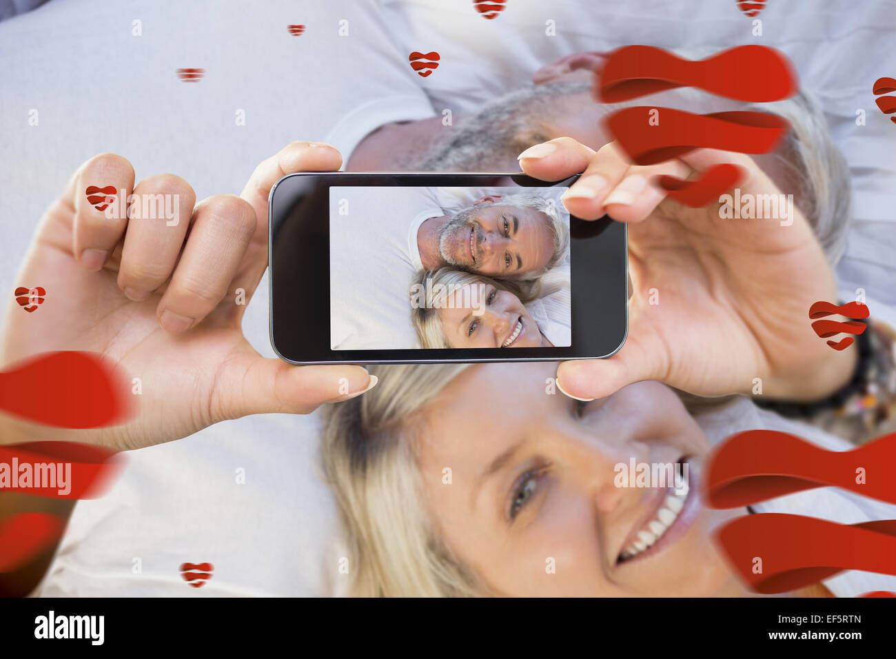 Image composite de la saint valentin couple Photo Stock