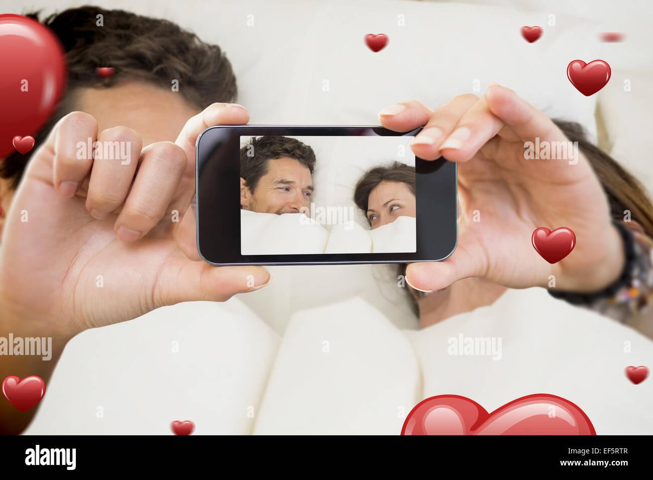 Image composite de la saint valentin couple Photo Stock