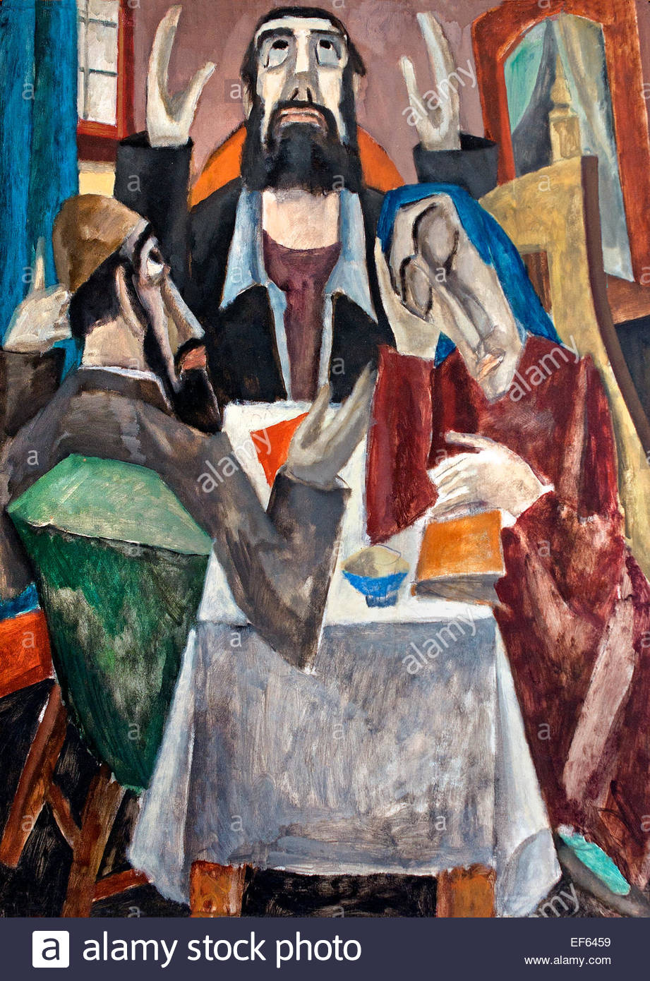 Invocation 1919 Max Weber 1881- 1961 ( Vatican Collection d'Art Religieux Moderne Rome Italie ) Photo Stock