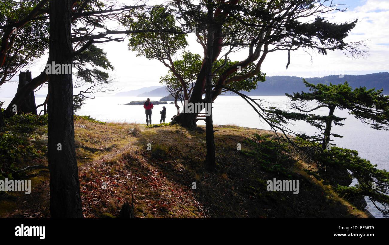 Clark Island, San Juan Islands, Puget Sound, l'État de Washington Banque D'Images
