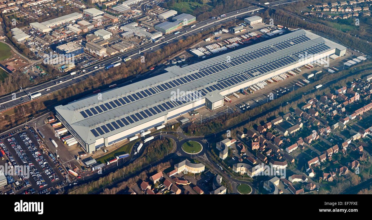 Entrepôt de distribution Sainsburys, Enfield, au nord de Londres, UK Photo Stock
