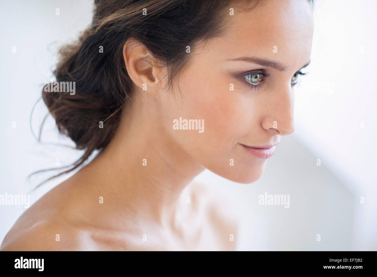 Portrait of a Beautiful woman smiling Banque D'Images